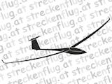 Segelflugzeugaufkleber - EB29R, EB29DR