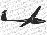 Segelflugzeugaufkleber - Kestrel