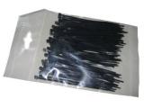 Cable clip 100 set black 220x4,8