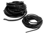 Spiral coiled tube black