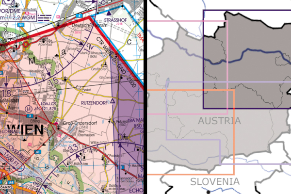 Karte Wien Niederosterreich.Streckenflug At Shop